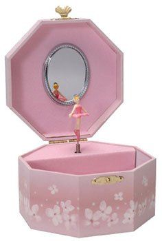 Your little ballerina can keep all her jewelry safe and sound in this charming Ballerina Jewelry Box.