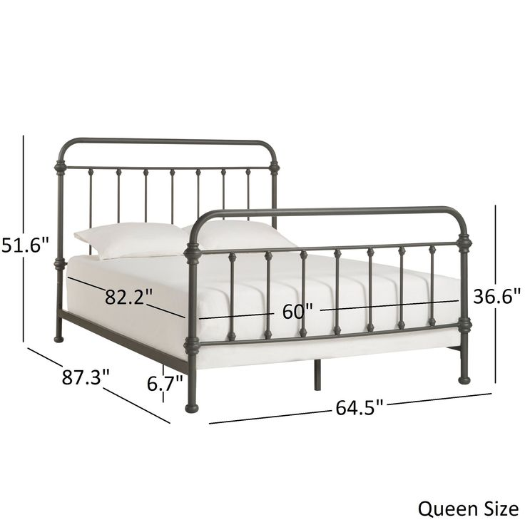Giselle Dark Graceful Lines Victorian Iron Bed by Tribecca Home