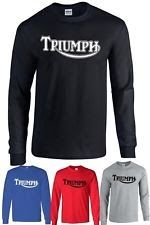 TRIUMPH T Shirt MOTORCYCLES T-shirt Long sleeve Tee