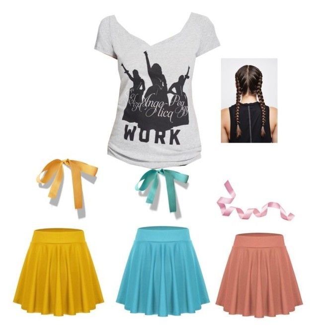 """""""Schuyler sisters costume ❤️"""" by slothhugs ❤ liked on Polyvore featuring Hamilton"""