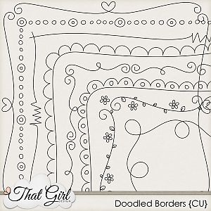 Scrap doodle borders would look cute around the edge of a dishtowel. Could use a fabric paint pen to make it especially quick and easy!