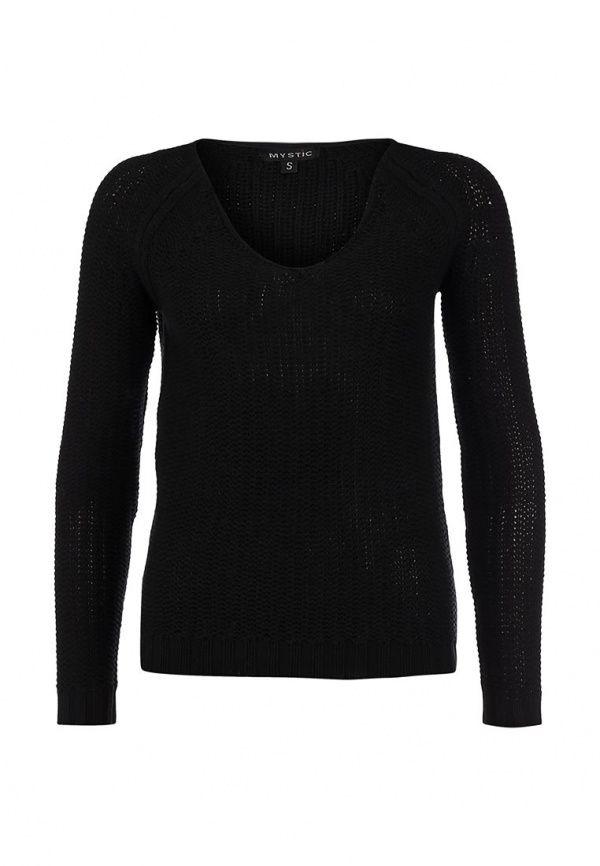 Пуловер Mystic женский. Цвет: черный. Сезон: Осень-зима 2013/2014. С бесплатной доставкой и примеркой на Lamoda. http://j.mp/UUFdPG
