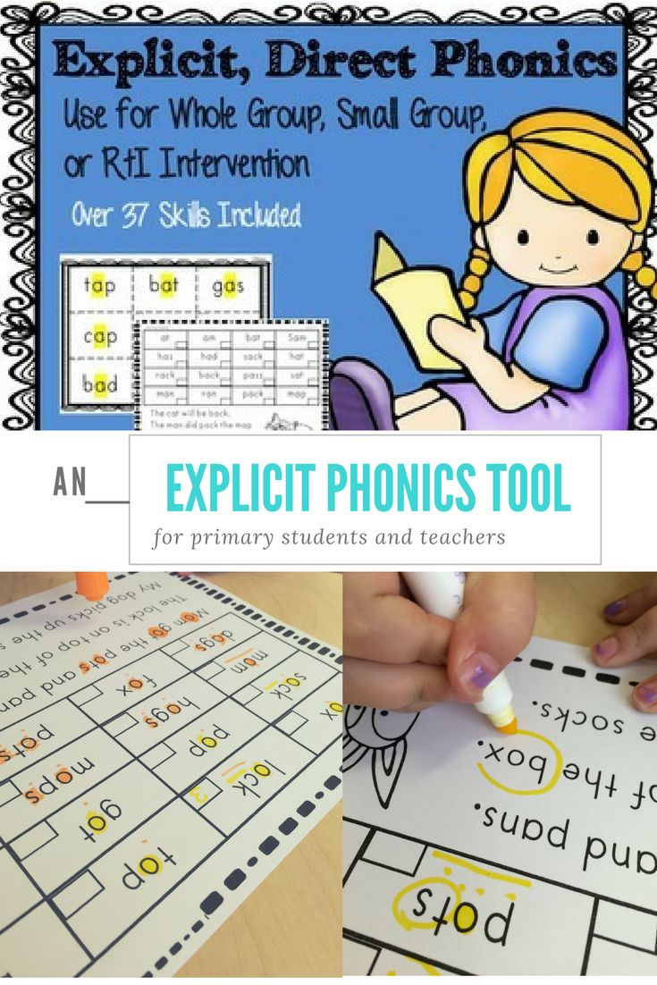 Direct, explicit phonics sheets to support your students in whole group, small group, or intervention.