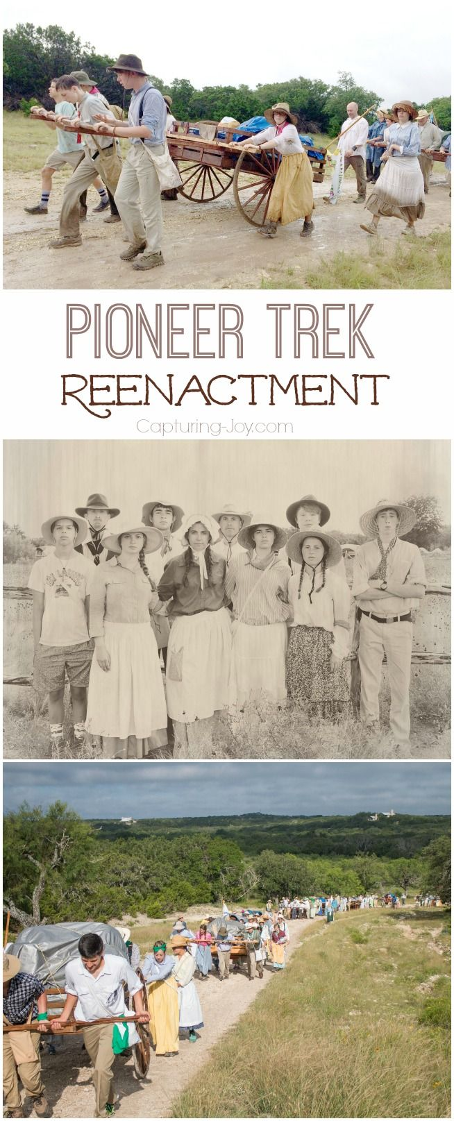 Pioneer Handcart Trek Reenactment where youth participate in a 4 day journey in the wilderness as they ponder the sacrifices of their ancestors