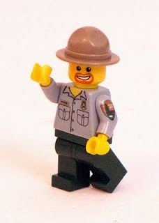 Park Ranger. Lego!!  It even looks like Ranger Bob!  We are so getting some of these!