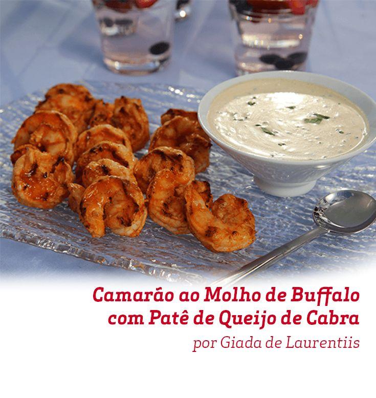 O Camarão ao Molho de Buffalo com Patê de Queijo de Cabra da Chef Giada de Laurentiis é uma perfeita entrada para um jantar especial.