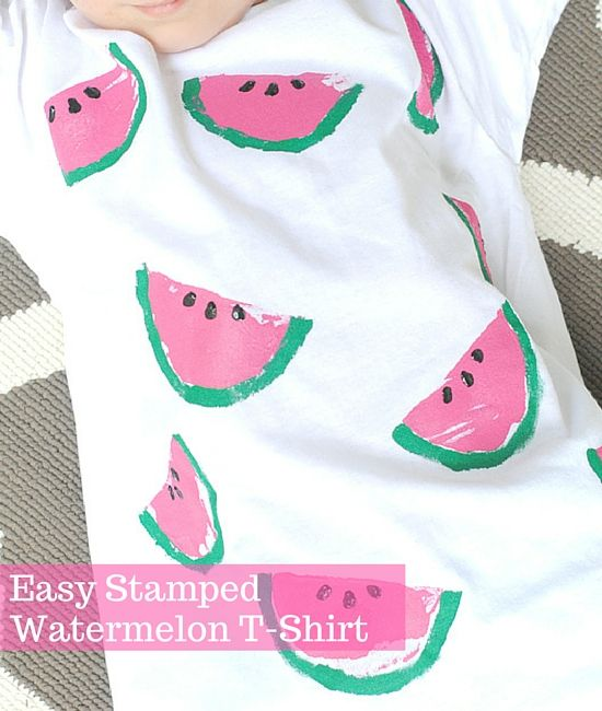 Easy Stamped Watermelon T Shirt Do It Yourself Today Pinterest