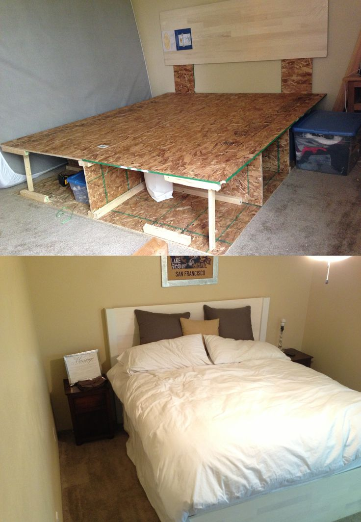 1000 ideas about diy bed frame on pinterest pallet for Make your own bed frame ideas