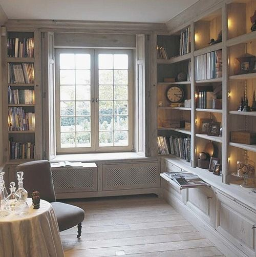 .: Libraries, Bookcases, Bookshelves Windowseats, Built In, Design Ideas, Pull Out Shelves, House, Room