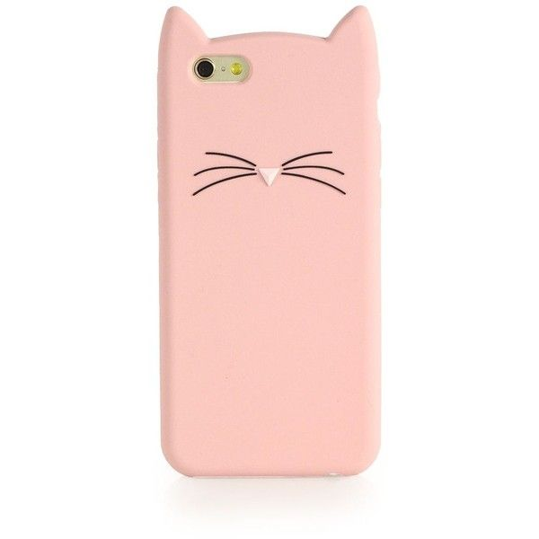 Kate Spade New York Cat Silicone iPhone 6 Case (£25) ❤ liked on Polyvore featuring accessories, tech accessories, phone cases, phone, cases, electronics, pink, apparel & accessories and kate spade