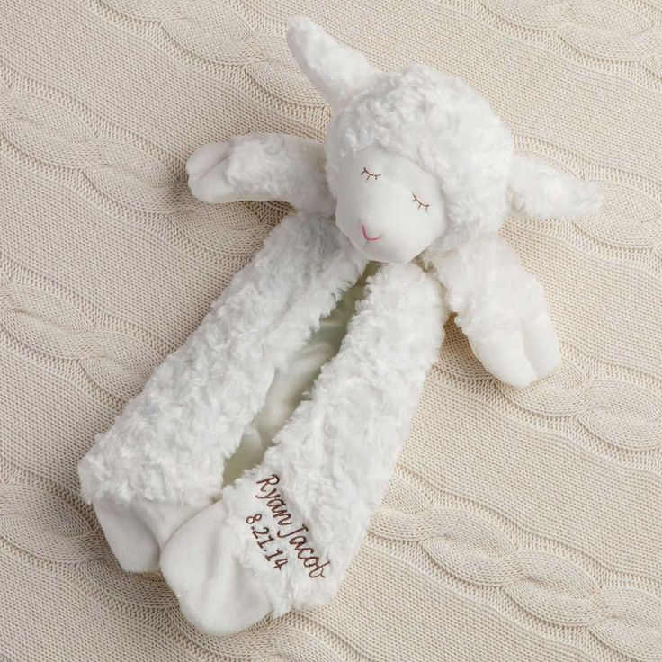 64 best personalized gifts for baby images on pinterest new personalized gund lamb blanket newborn baby personalized planet negle Gallery