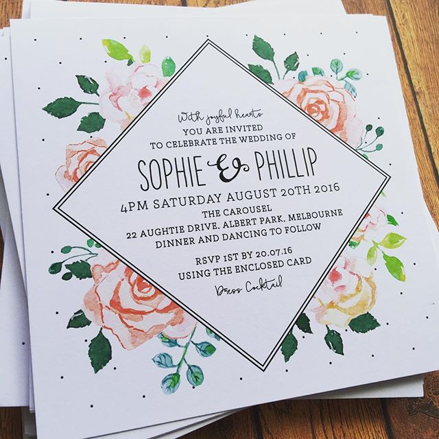 Spring wedding invitations via @the_print_fairy