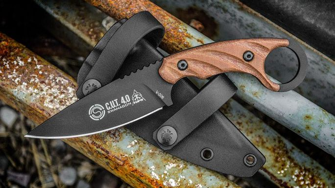 The all new C.U.T. 4.0 from TOPS Knives combines the combat capabilities of a karambit with the usefulness of a utility knife.