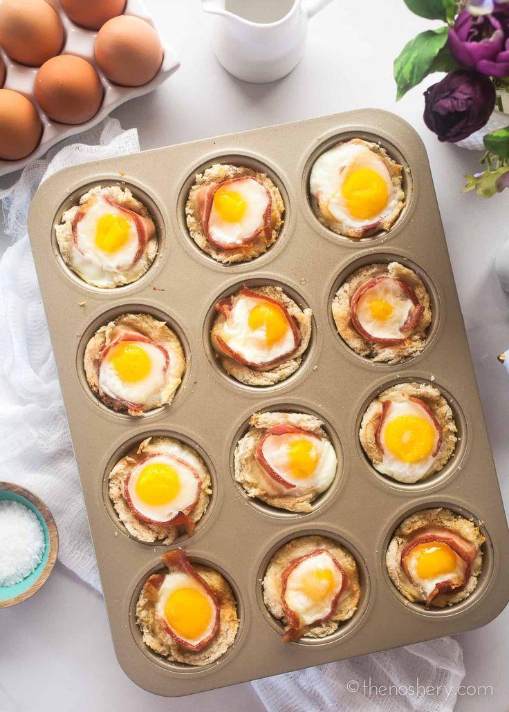Bacon egg cups recipe pinterest