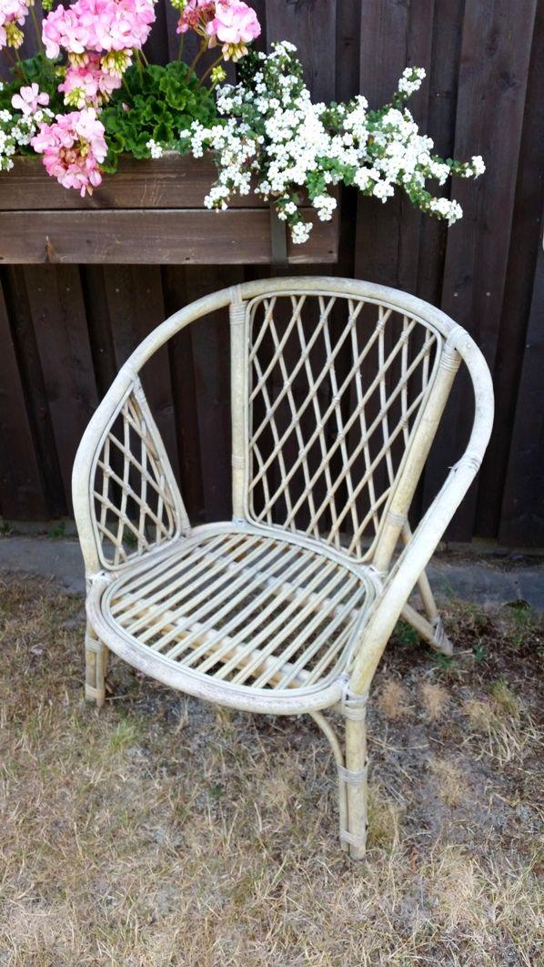 A fabulous old wrattan chair