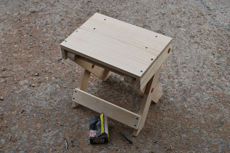 DIY folding camp stool... Did these for a girls camp craft big hit and useful!