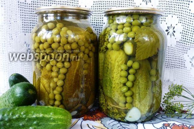 Готовим заготовку на зиму «Для оливье» Сегодня заготавливаем огурцы вместе с зелёным горошком. Зимой, без особых хлопот, эту банку можно использовать для приготовления «Оливье» или другого салата. Используем весь горошек, и сколько надо огурчиков. Вкус мягкий, сладковатый, приятный, острого перца нет, но при желании добавляйте! Расход продуктов на 1 литровую банку.
