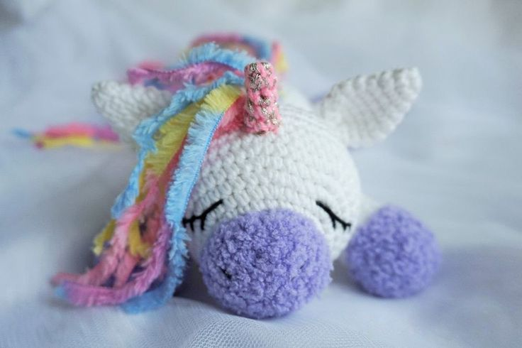 Amigurumi Sleeping Unicorn Pony Free English Pattern