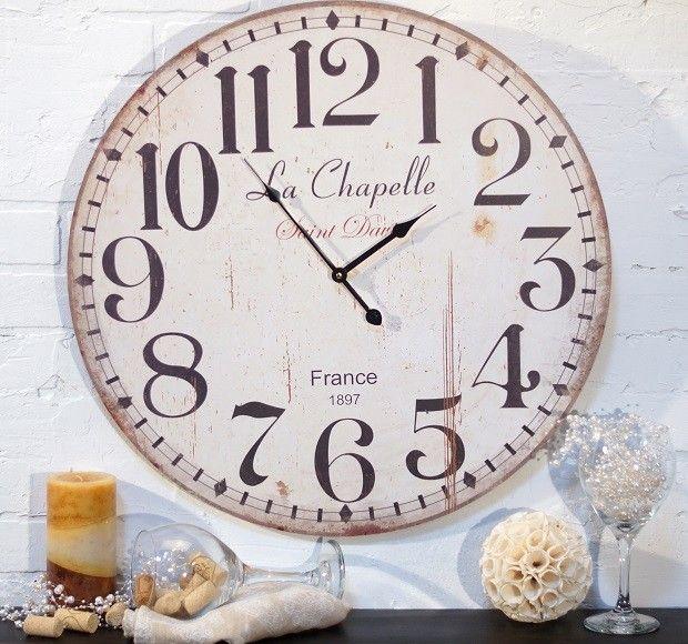 Large White Clock Part - 41: Large Round White Wall Clock