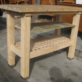 Outstanding Ikea Butcher Block Island With 2 Tier Open Storage Unfinished  Furnishing Designs