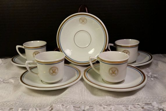 Department of the Navy Shenango Set 4 Cups by ShellysSelectSalvage