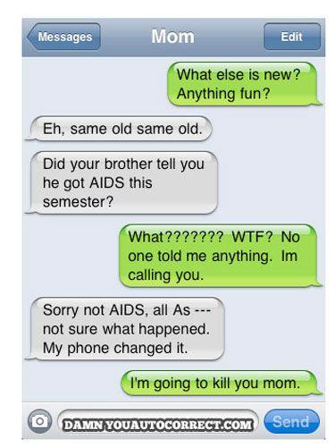 Damn You Auto Correct Texts -