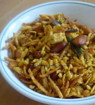 Authentic Vegetarian Recipes | Indian Traditional Food | Step-by-step Instructions: Kenya Chevdo/chewdo ( Gujarat snack mix with rice flakes...