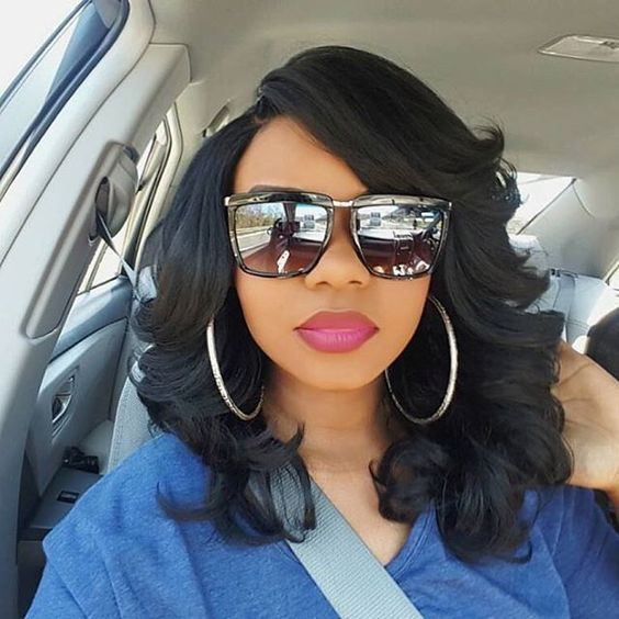 """14"""" Wavy Wigs For African American Women The Same As The Hairstyle In The Picture - Human Hair Wigs For Black Women"""