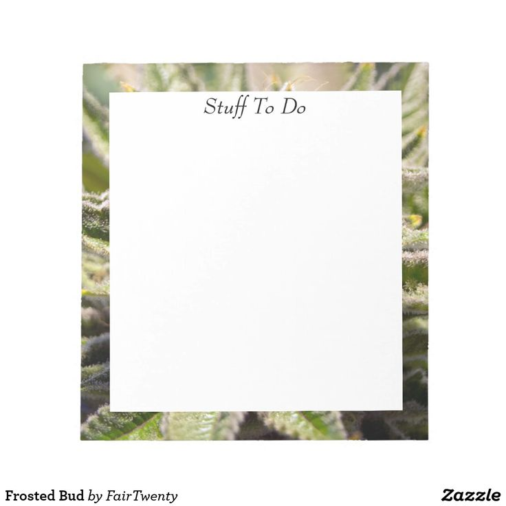 Frosted Bud Notepad  - you can  customize or remove the text. #marijuana #ganja #pot #weed #cannabis #grass