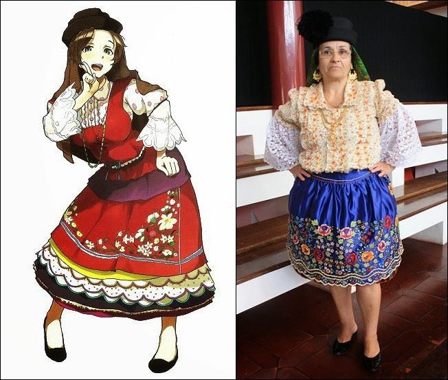 Traditional Clothes of Nazaré, Portugal
