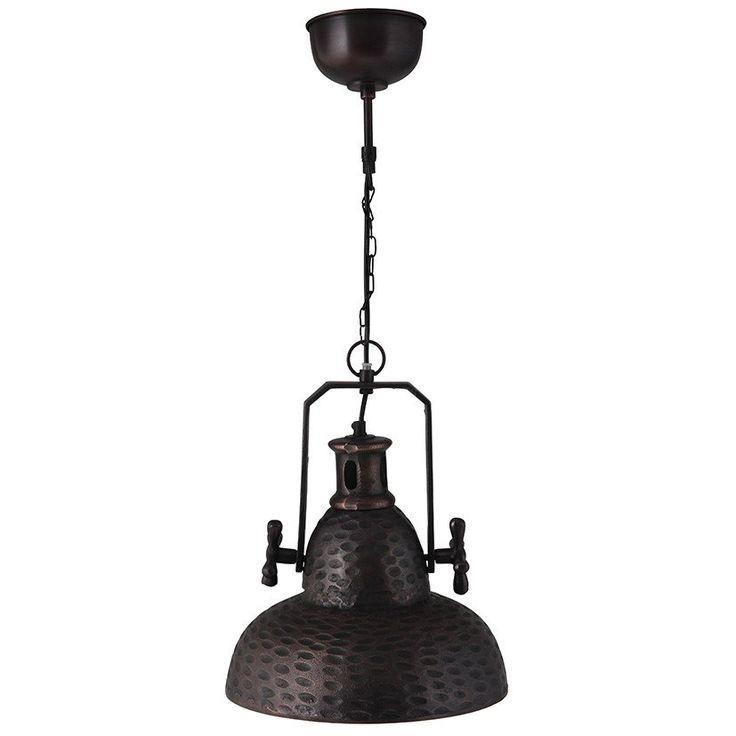 Black industrial style kitchen light