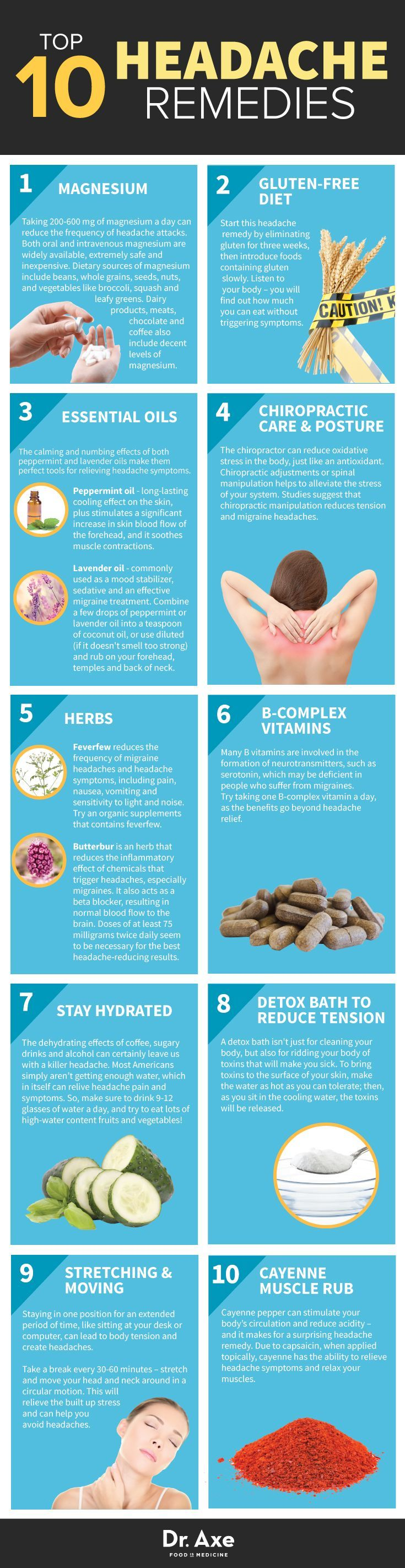Headache Remedies http://www.draxe.com #health #holistic #natural natural health tips, natural health remedies