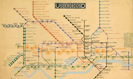 Harry Beck's  original draft from 1931 London Underground map.
