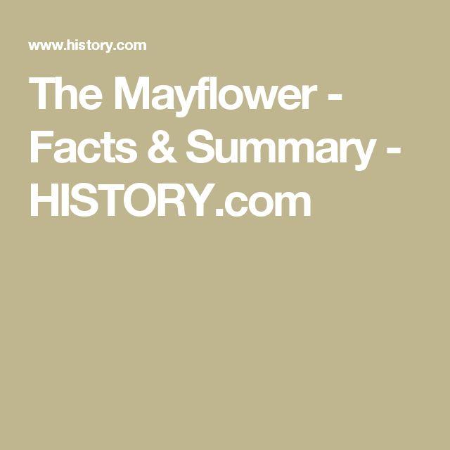 The Mayflower - Facts & Summary - HISTORY.com
