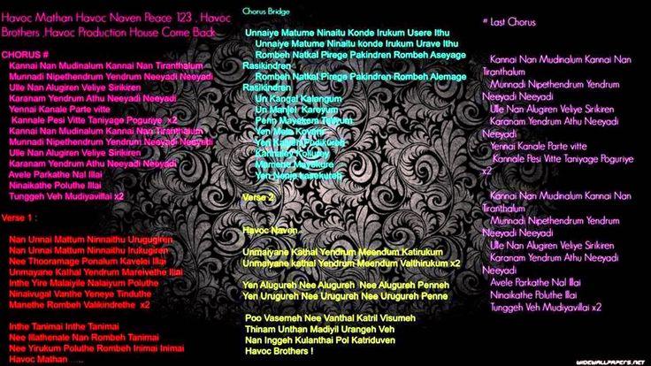 havoc brothers kanale kolathey song lyrics - Google Search