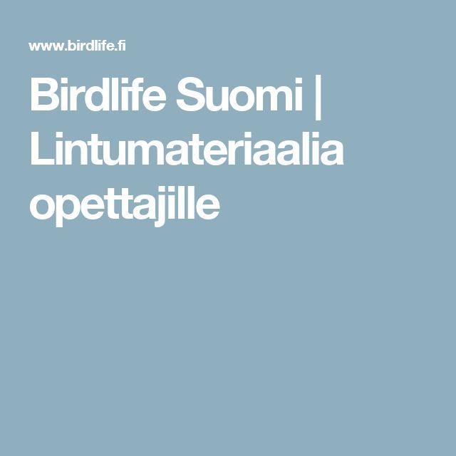 Birdlife Suomi | Lintumateriaalia opettajille
