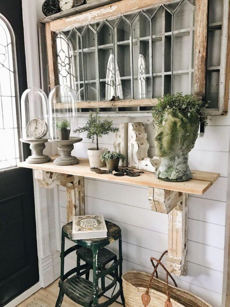 DIY Corbel Entryway Table