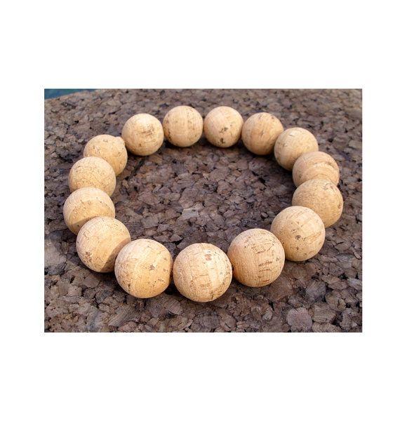 Trivet made of natural cork beads - 2 sizes