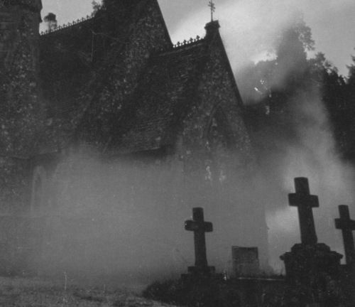 Mist...: Cemeteries, Church, Cemetery, Posts, Graveyards, Place, Darkness, Photography