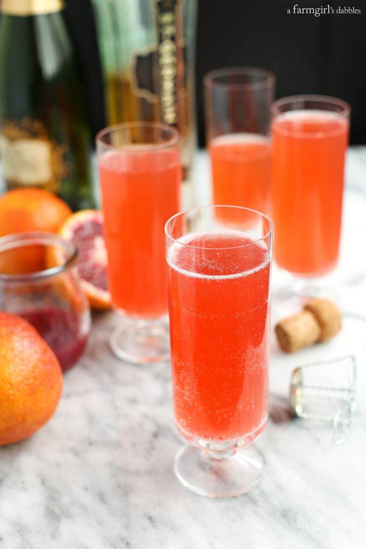 Blood Orange Mimosa with St. Germain from afarmgirlsdabbles.com
