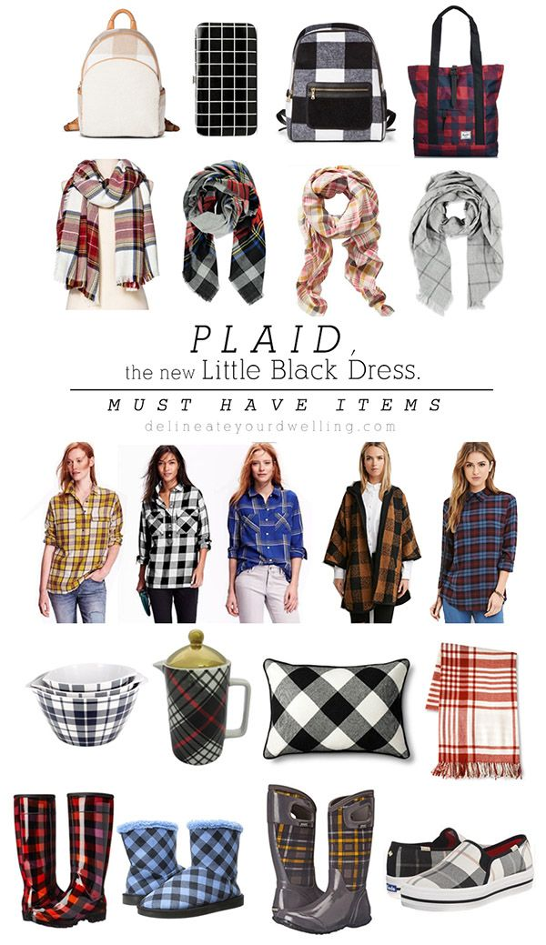 Plaid, the new little black dress MUST HAVE fun FALL Plaids, all under $100! Delineateyourdwelling.com