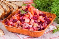 Классический салат винегрет - рецепт с фото