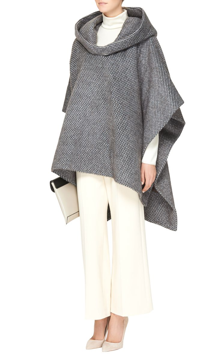 Still loving all things Delpozo. Wool and Alpaca-Blend Hooded Cape