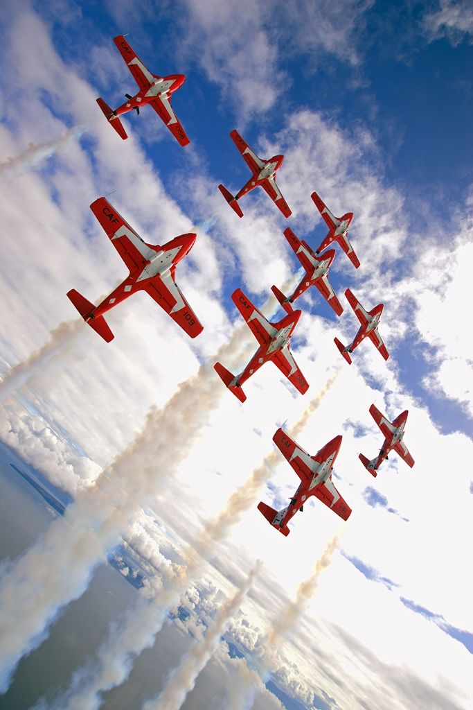Snowbirds- a must see at the summer Canadian Exhibition Labour Day weekend in Toronto