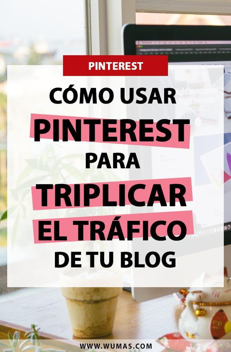 Estos son mis 4 tips de cómo usar Pinterest para aumentar y triplicar el tráfico de tu blog.