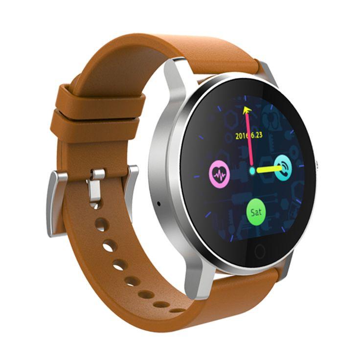 SMA09 Смарт часы круглый циферблат Дизайн Мода Повседневная Мужчины Bluetooth смарт-часы для Android IOS