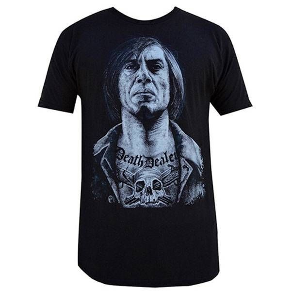 Death Dealer by Wayne Maguire Mens Black Shirt No Country for Old Men Tattoo Tee