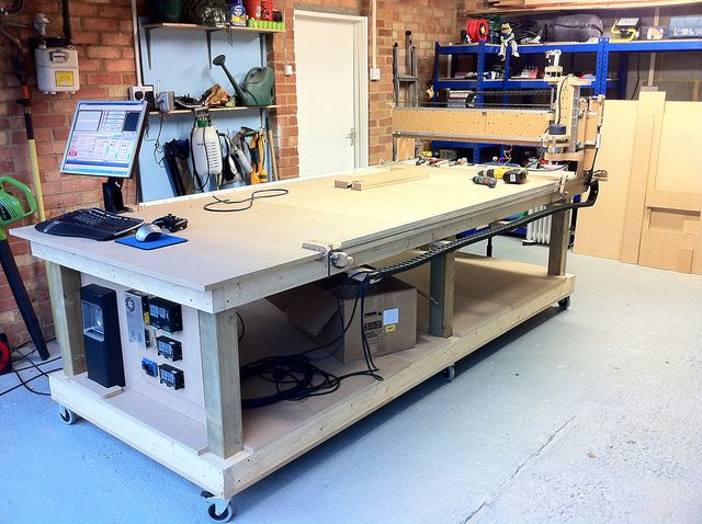 garage benchtop ideas - 110 best images about Home Built CNC on Pinterest