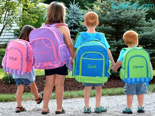 Gator Tots - Small Stephen Joseph Solid Personalized Backpack Pink Purple, $25.95 (http://www.gatortots.com/small-stephen-joseph-solid-personalized-backpack-pink-purple/)