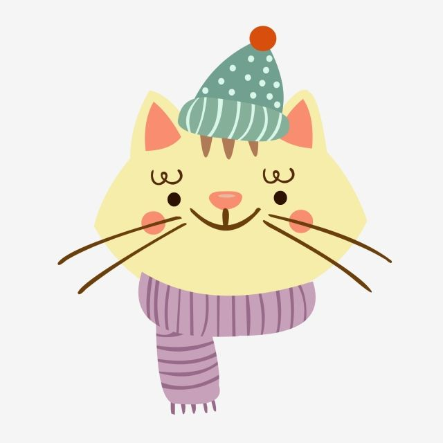 Animal Element Cold Winter Cartoon Kitten Cartoon Kitten Cute Kitten Scarf Hat Png And Vector With Transparent Background For Free Download Kitten Cartoon Kittens Cutest Kitten